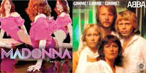 Madonna Hung Up - Abba Gimme! Gimme! Gimme!