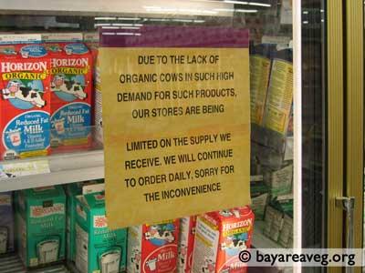 Organic Milk Sign